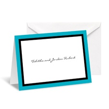 Bold Double Border Note Card and Envelope - Palm