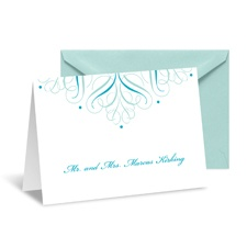 Mod Medallion Note Card and Envelope - Palm