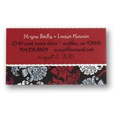 Dramatic Floral Calling Cards