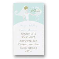 Bride to Be Calling Cards