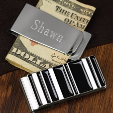 Black and Silver Money Clip