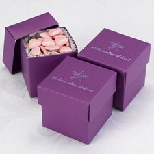 Purple Lidded Favor Boxes