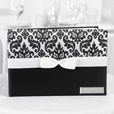 Black and White Damask Guest Book