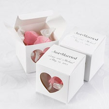 White Peek-a-Boo Heart Favor Boxes