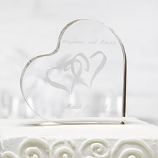 Two Hearts Acrylic Cake Top