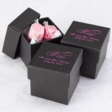 Black Lidded Favor Boxes