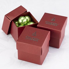Red Lidded Favor Boxes