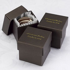 Mocha Lidded Favor Boxes