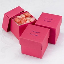 Fuchsia Lidded Favor Boxes