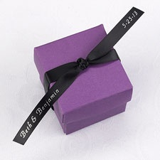 Personalized Black Satin Favor Ribbon