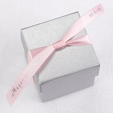 Personalized Pink Satin Favor Ribbon