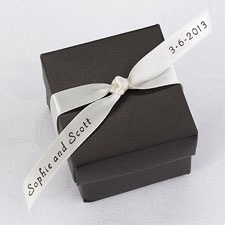 Personalized Ecru Satin Favor Ribbon