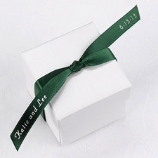 Personalized Hunter Satin Favor Ribbon