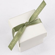 Personalized Olive Satin Favor Ribbon