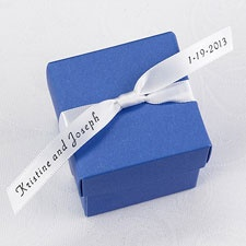 Personalized White Satin Favor Ribbon