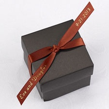 Personalized Rust Satin Favor Ribbon