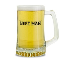Best Man Glass Mug