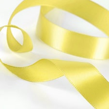 Canary Satin Ribbon