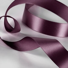 Eggplant Satin Ribbon