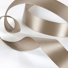 Taupe Satin Ribbon