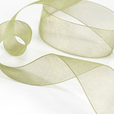 Olive Sheer Ribbon