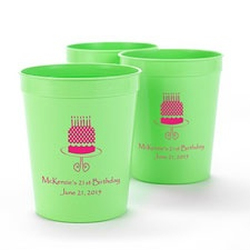 Lime Green Personalized Cup
