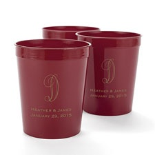 Maroon Personalized Cup