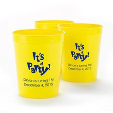 Neon Yellow Personalized Cup