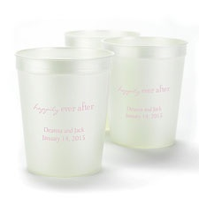 Pearl White Personalized Cup