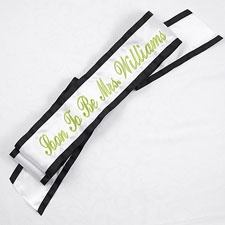 Celebration Sash Black Trim
