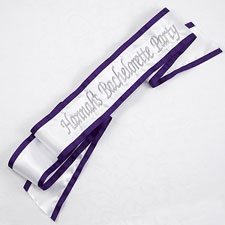 Celebration Sash Grape Trim