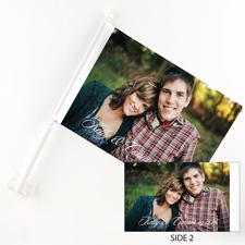 Portrait Personalized Photo Car Flag
