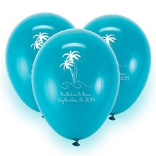 Teal Custom Balloon