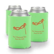 Lime Green Personalized Can Holder