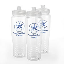 Clear Personalized Water Bottle