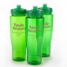 Green Personalized Water Bottle
