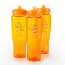 Orange Personalized Water Bottle