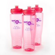 Pink Personalized Water Bottle