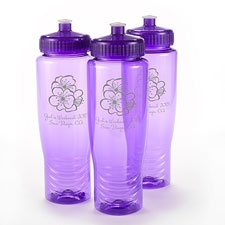 Purple Personalized Water Bottle