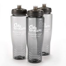 Grey Personalized Water Bottle