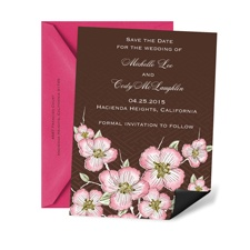 Cherry Blooms Save the Date Magnet