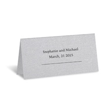 Silver Shimmer Place Card - Personalized