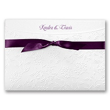 Posie Filigree Wedding Invitation