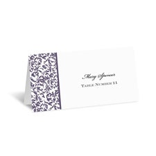 Vintage Damask Place Card