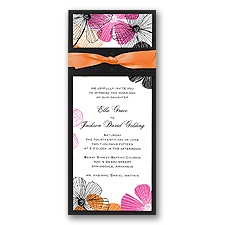 Silhouette Floral Layered Invitation