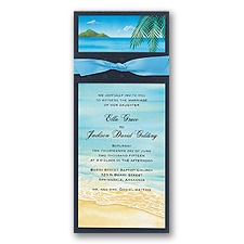 At the Beach Layered Wedding Invitation