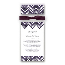 Sleek Chevron Layered Wedding Invitation