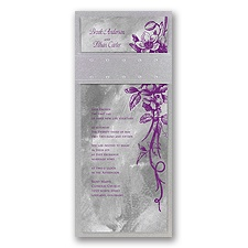 Beautiful Bouquet Layered Wedding Invitation - Grapevine/Pewter