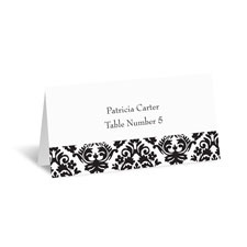 Dramatic Damask Place Card
