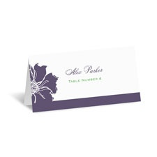 Floral Focus Place Card